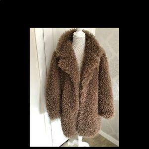 Zara brown Teddy Coat